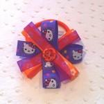 Chouchou Hello Kitty Violet et Orange