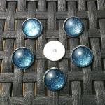 Boutons-Cabochon-Blue-Glitter