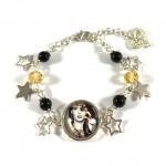 Bracelet Cabochon Noir et Or TAL 5 Stars 2