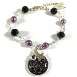 Bracelet Cabochon Noir et Violet Cosmic Space Black 2