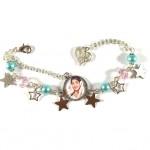 Bracelet Cabochon  Turquoise et Rose Violetta 1 Stars 2