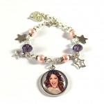 Bracelet Cabochon Violet et Rose Violetta 2 Stars 2