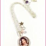 Collier Cabochon Violetta 2 Stars - 20mm