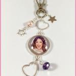 Porte Clé : Bijoux de Sac Cabochon Violetta 2 Stars