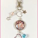 Porte Clés : Bijoux de Sac Cabochon Violetta 4