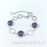 Bracelet Cabochon Violet Or Trio